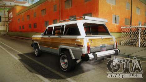 Jeep Grand Wagoneer Limite 1986 for GTA San Andreas back left view