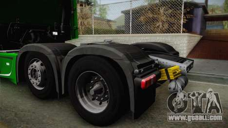 Mercedes-Benz Actros Mp4 6x2 v2.0 Bigspace for GTA San Andreas right view