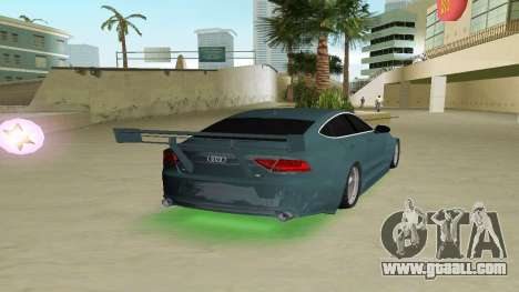 AUDI A7 SPORTS for GTA Vice City back left view