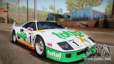 Ferrari F40 (US-Spec) 1989 IVF for GTA San Andreas side view