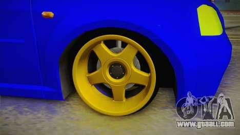 Dacia Logan Stance Haur Edition for GTA San Andreas back view