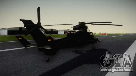 Eurocopter Tiger for GTA San Andreas back left view
