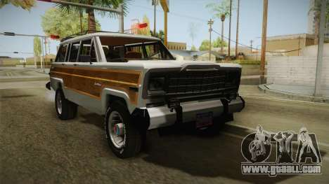 Jeep Grand Wagoneer Limite 1986 for GTA San Andreas