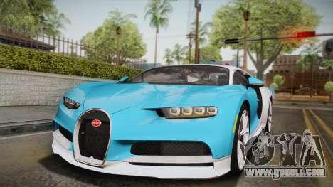 Bugatti Chiron 2017 for GTA San Andreas bottom view