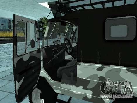 LUAZ 969М Winter camo for GTA San Andreas right view