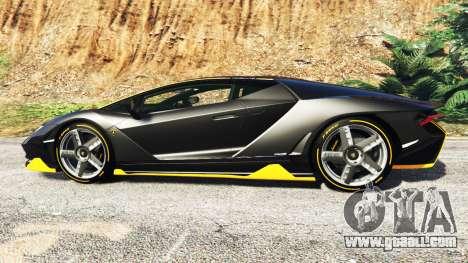 GTA 5 Lamborghini Centenario LP770-4 2017 [add-on] left side view