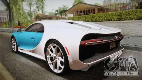 Bugatti Chiron 2017 for GTA San Andreas left view