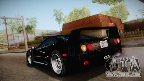 Ferrari F40 (US-Spec) 1989 IVF for GTA San Andreas left view