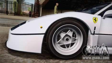 Ferrari F40 (EU-Spec) 1989 HQLM for GTA San Andreas back left view
