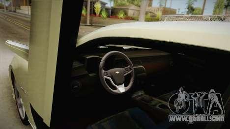 Chevrolet Camaro Synergy for GTA San Andreas inner view