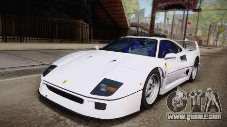 Ferrari F40 (EU-Spec) 1989 HQLM for GTA San Andreas