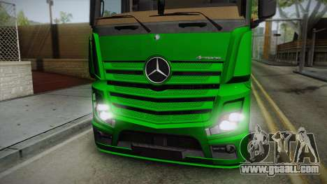 Mercedes-Benz Actros Mp4 6x2 v2.0 Bigspace for GTA San Andreas back left view