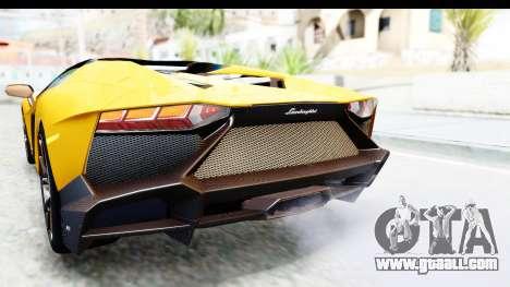 Lamborghini Aventador LP720-4 Roadster 2013 for GTA San Andreas interior