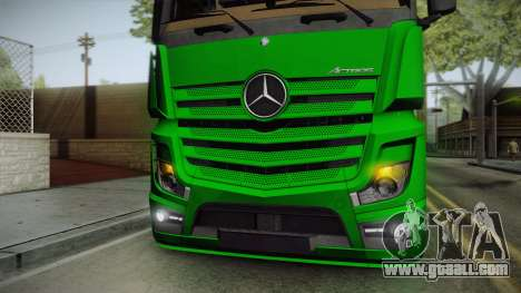 Mercedes-Benz Actros Mp4 6x2 v2.0 Bigspace for GTA San Andreas inner view