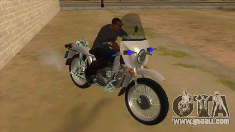 Ural Police for GTA San Andreas back view