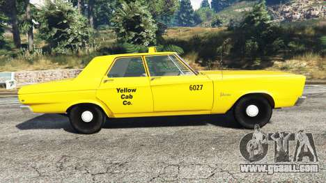 GTA 5 Plymouth Belvedere 1965 Taxi [replace] left side view