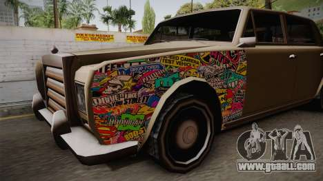 Stafford Old Sticks for GTA San Andreas back view