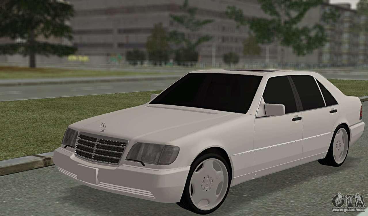 Mercedes Benz W140 600sel For Gta San Andreas