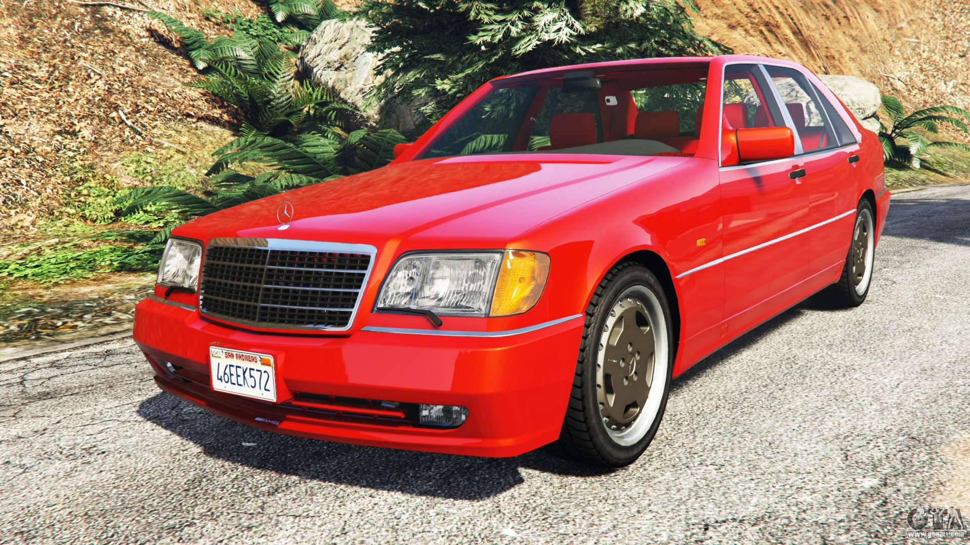 Mercedes benz w140 amg orange signals replace for gta 5 for Mercedes benz orange
