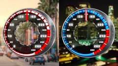 Speedometer GTA SA Style V16x9 (widescreen)