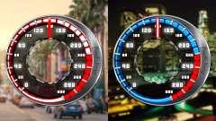 Speedometer GTA SA Style V16x9 (widescreen)