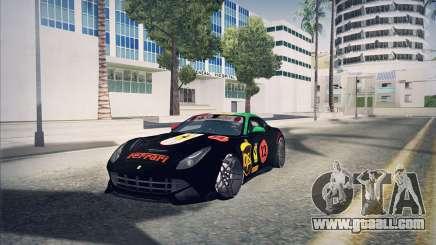 Ferrari F12 Berlinetta чёрный for GTA San Andreas
