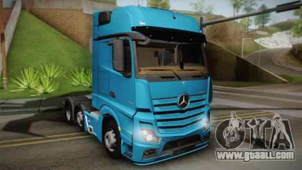 Mercedes-Benz Actros Mp4 6x2 v2.0 Gigaspace for GTA San Andreas