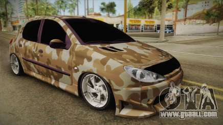 Peugeot 206 Army for GTA San Andreas
