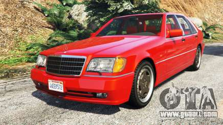 Mercedes-Benz W140 AMG orange signals [replace] for GTA 5