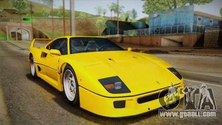 Ferrari F40 (EU-Spec) 1989 IVF for GTA San Andreas