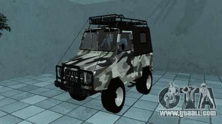 LUAZ 969М Winter camo for GTA San Andreas