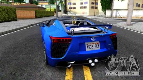 Lexus LFA for GTA San Andreas back left view