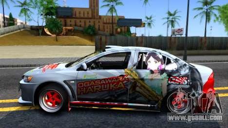 Ogasawara Haruka MITSUBISHI EVO X Itasha for GTA San Andreas left view