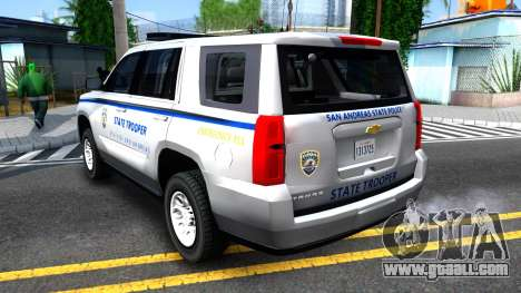 2015 Chevy Tahoe San Andreas State Trooper for GTA San Andreas right view