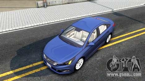 Hyundai Sonata 2016 for GTA San Andreas back view