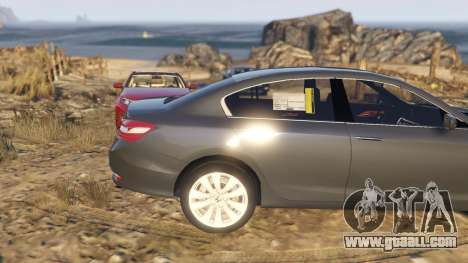 GTA 5 Honda Accord 2017 right side view
