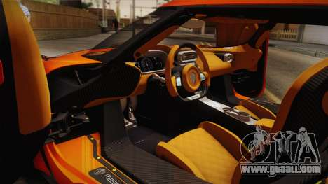 Koenigsegg Regera 2016 Bonus for GTA San Andreas back left view