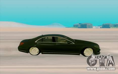 Mercedes Benz S63 for GTA San Andreas left view