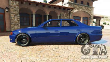 GTA 5 Toyota Chaser (JZX100) cambered v1.1 [add-on] left side view