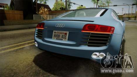 Audi R8 Coupe 4.2 FSI quattro EU-Spec 2008 YCH for GTA San Andreas bottom view