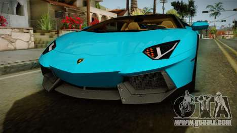 Lamborghini Aventador Itasha Rias Gremory for GTA San Andreas upper view