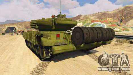 GTA 5 Tank T-72 rear left side view