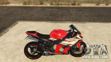 GTA 5 Kawasaki ZX6R Drag left side view