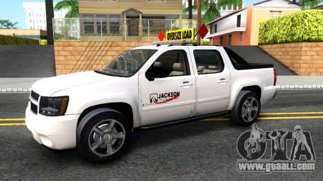 2007 Chevy Avalanche - Pilot Car for GTA San Andreas left view
