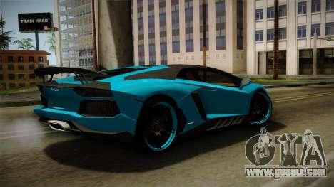 Lamborghini Aventador Itasha Rias Gremory for GTA San Andreas left view