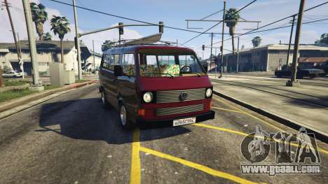 GTA 5 Volkswagen Transporter T3 (1979) rear right side view