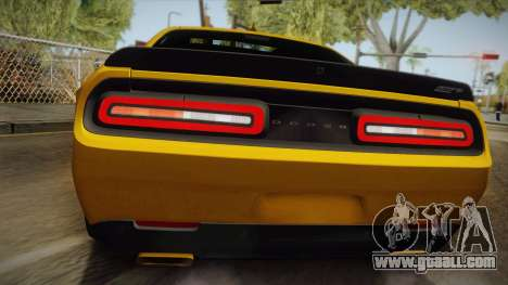 Dodge Challenger Hellcat 2015 for GTA San Andreas back view