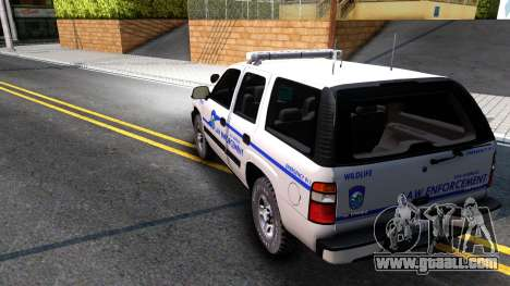 2004 Chevy Tahoe State Wildlife for GTA San Andreas back left view