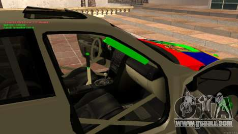 Toyota Altezza Armenian for GTA San Andreas inner view