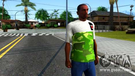 Design Camouflage T-Shirt for GTA San Andreas second screenshot